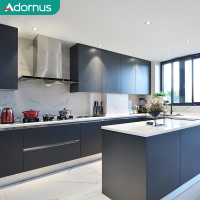 Adornus luxury white shaker pvc modern high gloss acrylic designs kitchen cabinet sets made in china