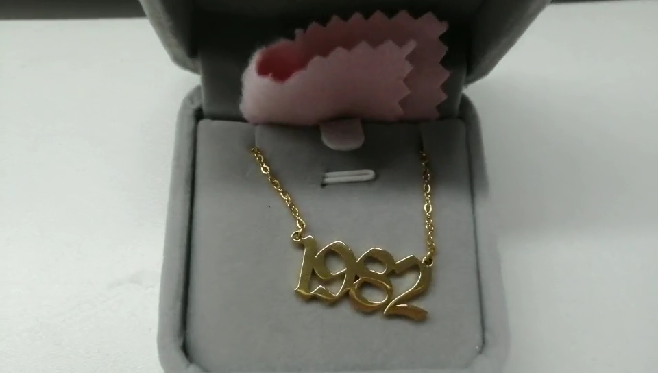 Пользовательские Дети Имя ожерелье ювелирные изделия, Имя ожерелье золотой цвет
