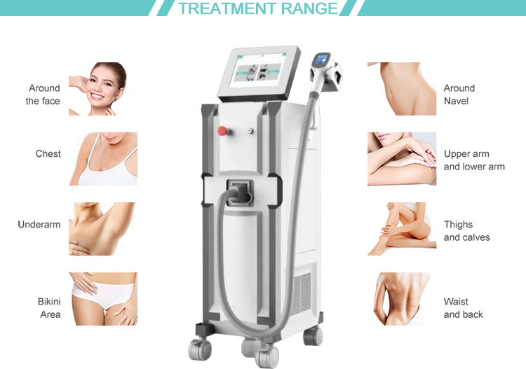 Professional USA laser bar 808nm diode laser hair removal machine