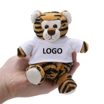 Cute Soft Stuffed Animals 10CM Plush Toy Tiger LOGO Custom Animal Tiger Plush Toy Keychain