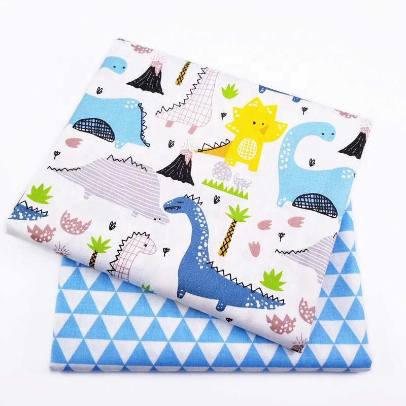 Baby 100% Cotton Stocklot Textile Fabric wholesale For Kids Bed Sheet Material