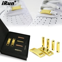 iRun Wholesale Shoe Decoration Accessories Gold Metal Custom Shoelace Charm