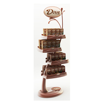 Supermarket Ritel Coklat Kain <span class=keywords><strong>Produk</strong></span> Kecantikan Pop Up Shampoo Display Stand