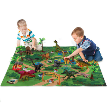 Amazon Hot Sale Dinosaur Toy Figure Activity Play Mat & Trees Educational Realistic Dinosaur Playmat to Create a Dino World