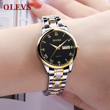 OLEVS женские часы, женские стальные часы с браслетом, женские часы, Relogio Feminino Montre Femme, подарки для женщин(China)