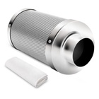 "4"" Inch Air Carbon Charcoal Filter for Odor Control Exhaust Inline Fan"
