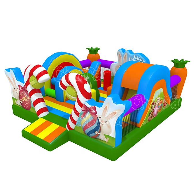 Happy Easter Theme Inflatable playground slide inflatable play center