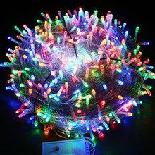 50 м/400 100 м/600 LED Сказочный светодиодный светильник, наружный водонепроницаемый светильник AC220V, праздничная гирлянда для рождества, Рождества...(Китай)