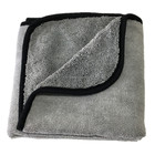 All Purpose Water Absorbent Gray Auto Detailing Buffing Drying Cleaning Cloth 16x24 400 GSM Microfiber Car Wash Towel for Drying