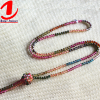 Wholesale fashion discount jewelry natural bead gemstone red tourmaline necklace