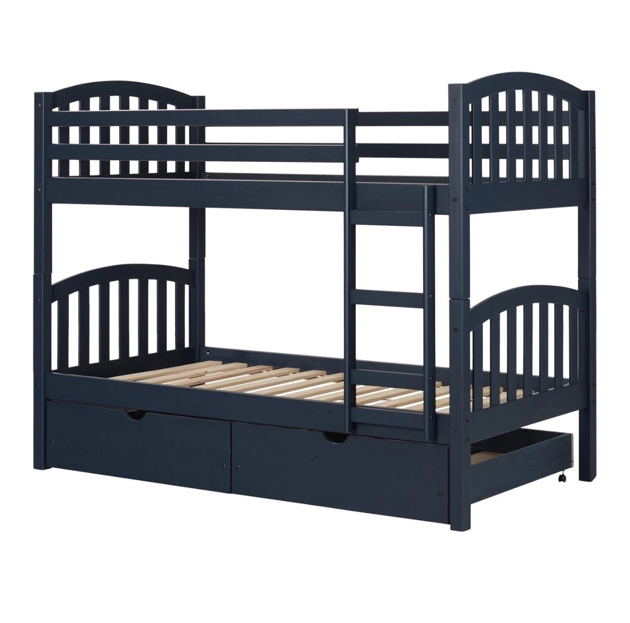 No.KA541 ホット販売子供固体松木製二段ベッド収納引き出し