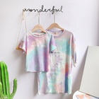 Custom Tie Dye T-shirt For Parent-child Print Leather T-shirts For Kids