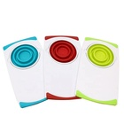 Multifunctional 3 In 1 Removable Drain Folding Collapsible Colander Basket Kitchen Board