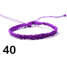 Богемные полосатые браслеты с узором из вощеной проволоки, пляжные разноцветные плетеные браслеты с ручной оплеткой, браслет дружбы, Ювели...(Китай)