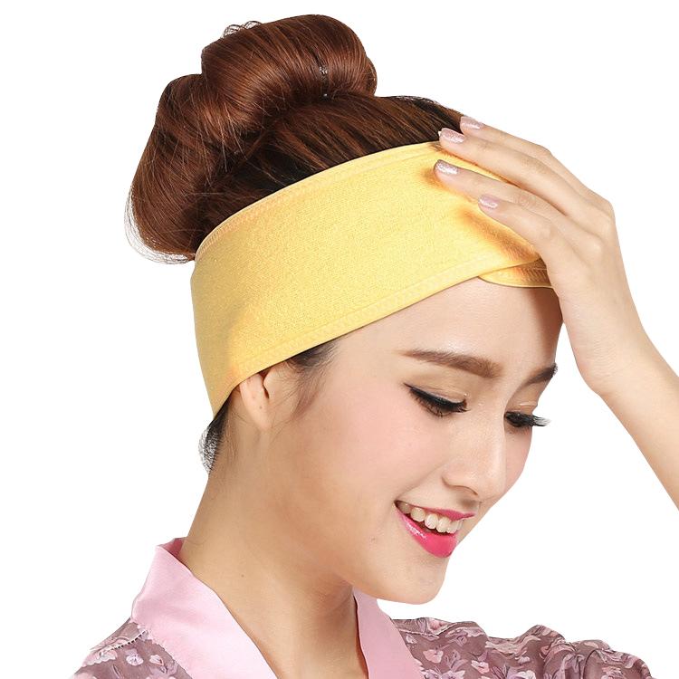 Spa yüz bandı havlu kumaş Spa kafa bandı streç havlu yıkanabilir yüz bandı makyaj Wrap bantlar