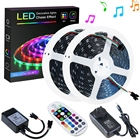 5050 12v Rgb Led Led Rgb Led Strip With Remote IP20 28 Key IR Remote Controlled WS2811 5050 5M 150LED 12V RGB Full Color Dream Color LED Strip With Power Adapter