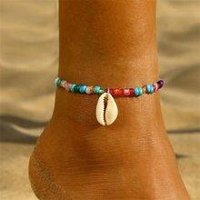 Женский ножной браслет с золотыми листьями, Модный богемный Серебристый браслет на ногу, Ювелирное Украшение на босую ногу, прямые продажи(Китай)