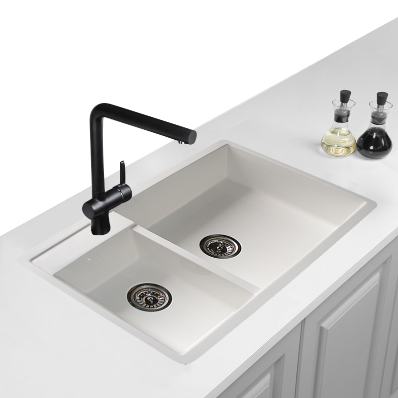 Factory Supply High Quality Cheap Europe Acrylic Basin Composite Lavabo Restaurant Quartz Resin Sinks Lebrillos Kitchen Sink