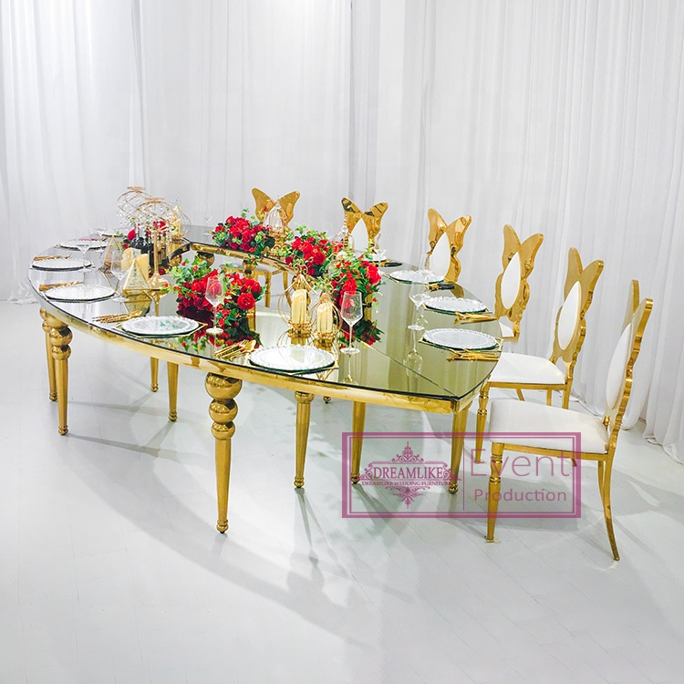 Different colors top wedding modern dining tables for sale