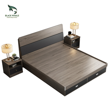 Storage Wooden Bett Modern Queen Lit King size Double Wood Beds Frame