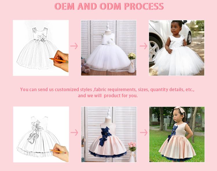 2020 Summer Newest Suspender Ball Gown Applique Boutique Baby Girls Party Wear Dress Designs With Shoulder Bow
