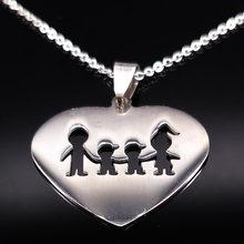 Ожерелье из нержавеющей стали для девочек и мальчиков, ожерелье для женщин и детей, ожерелье без воротника, аксессуары серебряного цвета, се...(Китай)