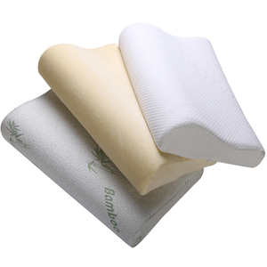 shredded cervical memory foam contour pillow for sleeping in size 47*30*9/7 CM bamboo pillow