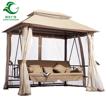 Leisure Adult Outdoor Garden Swing Chair Adjustable Swing Bed With Waterproof Canopy Buy Outdoor Garden Swing Chair Adjustable Swing Bed With Waterproof Canopy Product On Alibaba Com