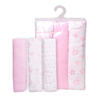 Nice Quality Customize Cotton 2-6 Layer Baby Girl Muslin Swaddle Blanket