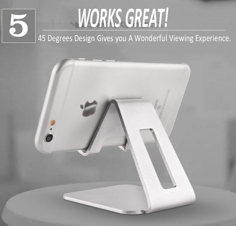 Новый дизайн мобильного телефона стенд, металлический Настольный держатель для мобильного телефона с пятью цветами