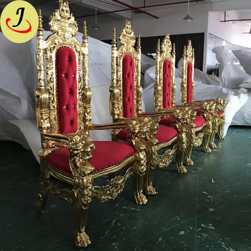 Preço barato Decoração Do Casamento de luxo Cadeira Do Trono Do Rei Leão Para Venda