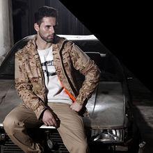 Наружное устойчивое к царапинам тактическое пальто боевая одежда с капюшоном для мужчин-(черный) XXL(Китай)