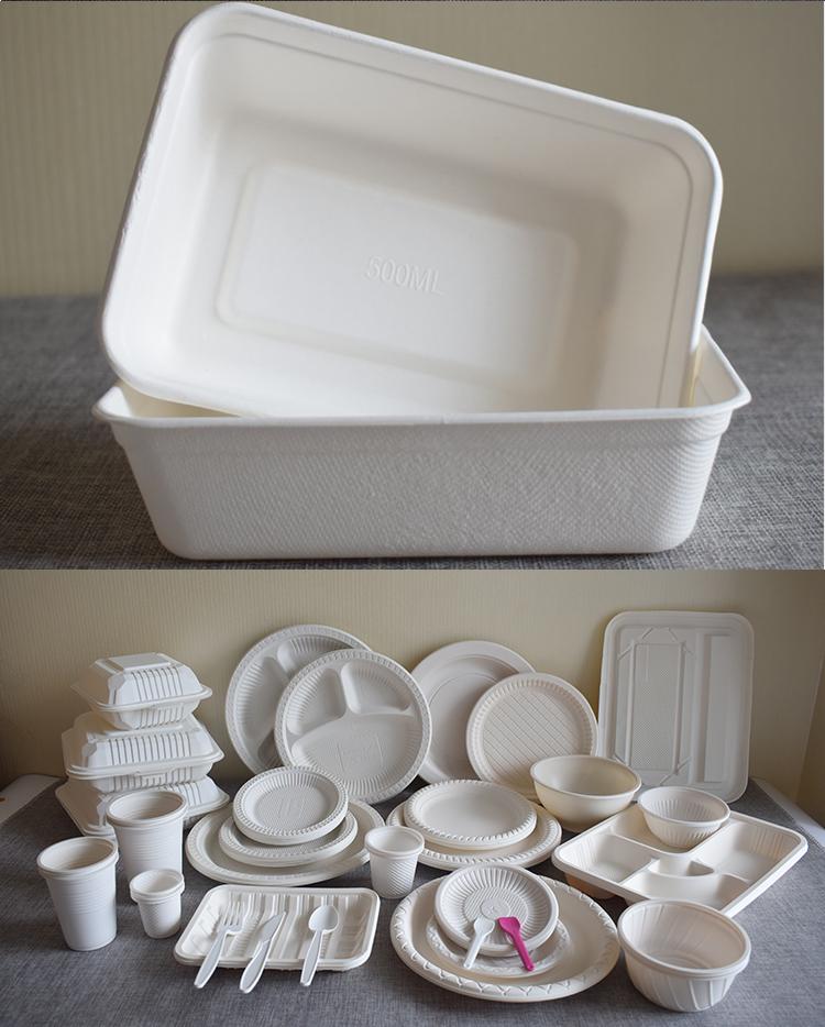 Amido di Mais biodegradabile Vassoio di Cibo Per Il Congelamento Uso