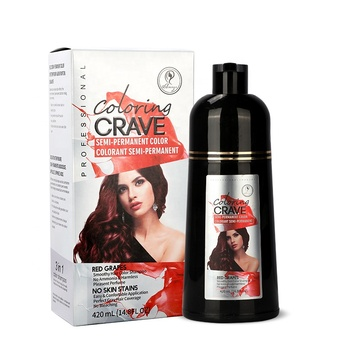 washing gray hair dye shampoo natural no ammonia hair color shampoo black brown purple color for silver hair dye