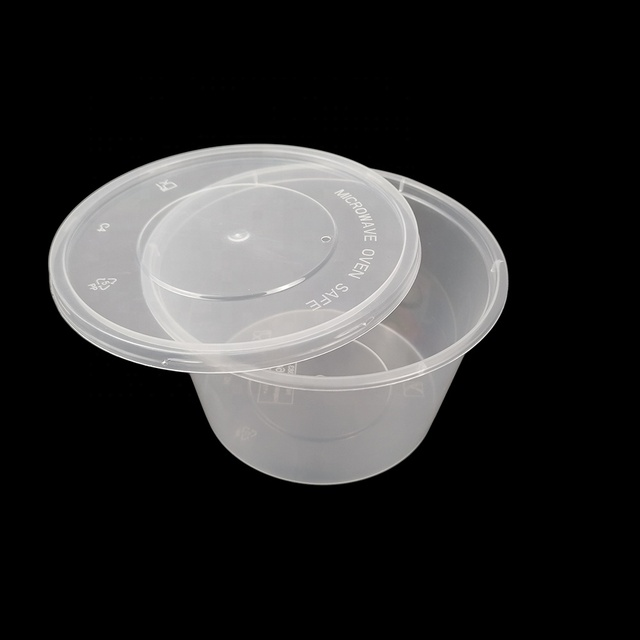 Wholesale 16Oz Clear Round Disposable Plastic Takeout Salad Container/ Take Away Food Boxes