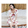 2020 casual dresses women clothing floral midi dress boho style elegant party prom club office formal dress for ladies and women