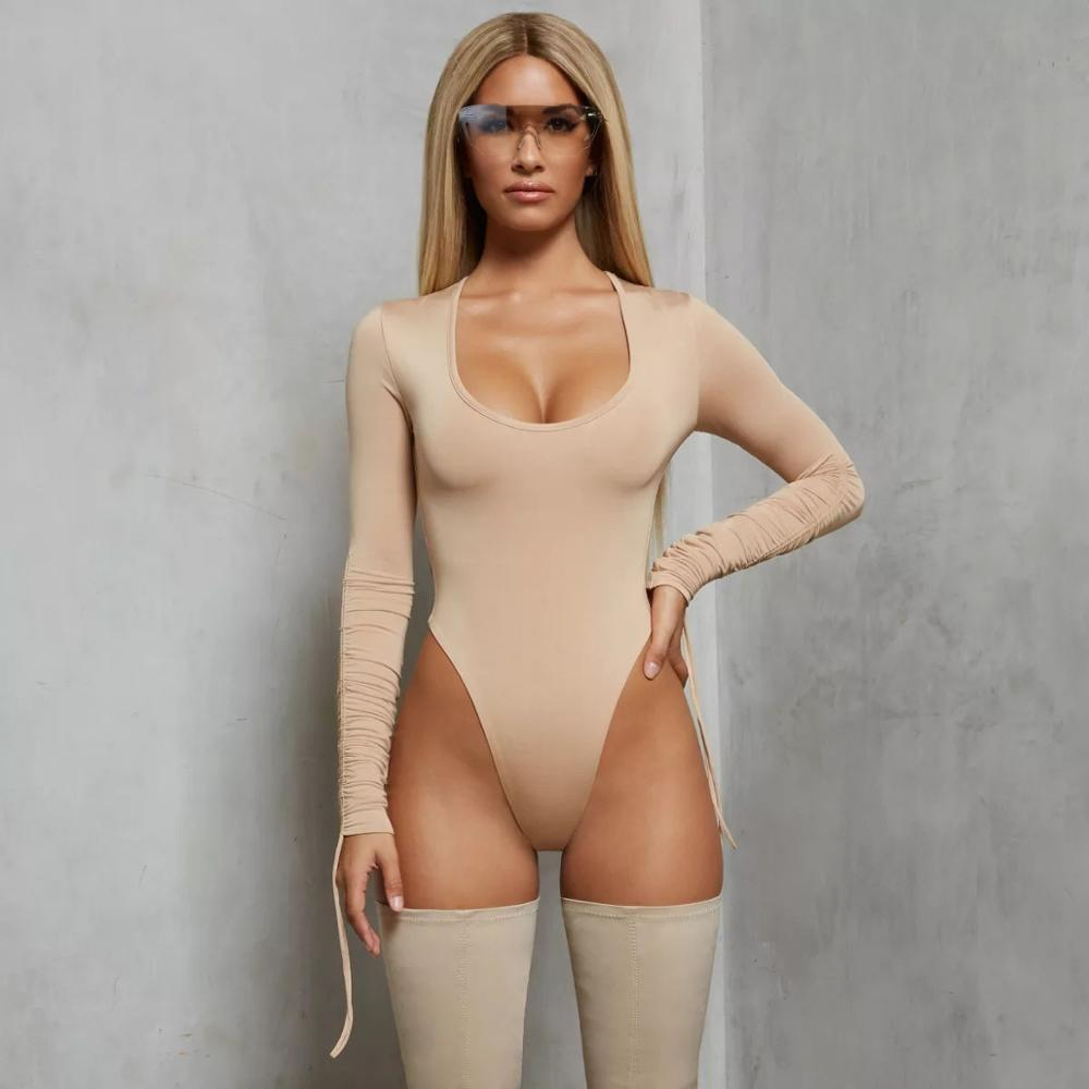 Sexy <strong>Women</strong> <strong>Bodysuits</strong> Girls Deep O-neck <strong>Bodysuits</strong> Short Lady Bandage Jumpsuits