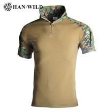 Мужская Уличная Тактическая Военная камуфляжная футболка, дышащая армейская Футболка США, быстросохнущая камуфляжная футболка для охоты, ...(Китай)