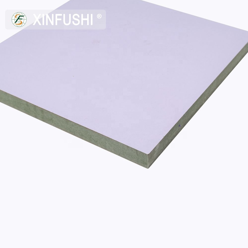 Double-pasted Bright White Laminated Melamine Paper Density 5mm 6mm 9mm MDF Board for Cabinet <strong>Design</strong>