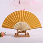 Folding Paper Fan Fans Best Selling Chinese Japanese Plain Color Bamboo Large Rave Folding Paper Hand Fan Craft Fans