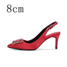 Женская обувь; Женские туфли-лодочки на высоком каблуке; Яркие шелковые стразы; Женская обувь на каблуке; Брендовая модельная обувь; Свадебн...(Китай)