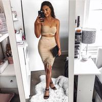 High Quality two piece bodycon dress set sets womens clothing two piece outfits two piece set women skirt and top