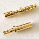 custom male and female gold plated 24k battery connector medical cable socket 2.5mm 3.5mm 5mm banana plug 2/3 pin terminal