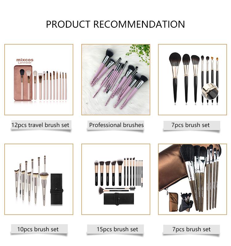 Eye Private Label Logo Vegan Goat Hair Professional Mini Make Up Brush Set Para Juego Kit Set Profesional Brochas De Maquillaje