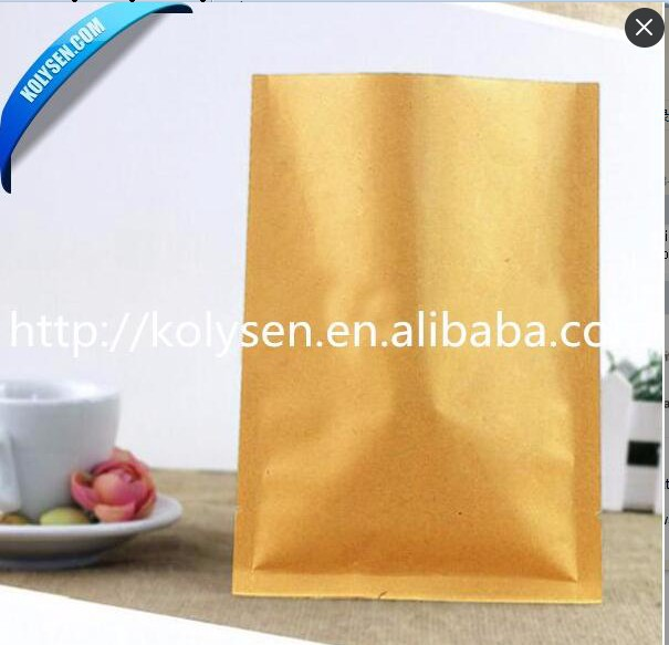 three side inner aluminum foil kraft paper bags  for food packaging