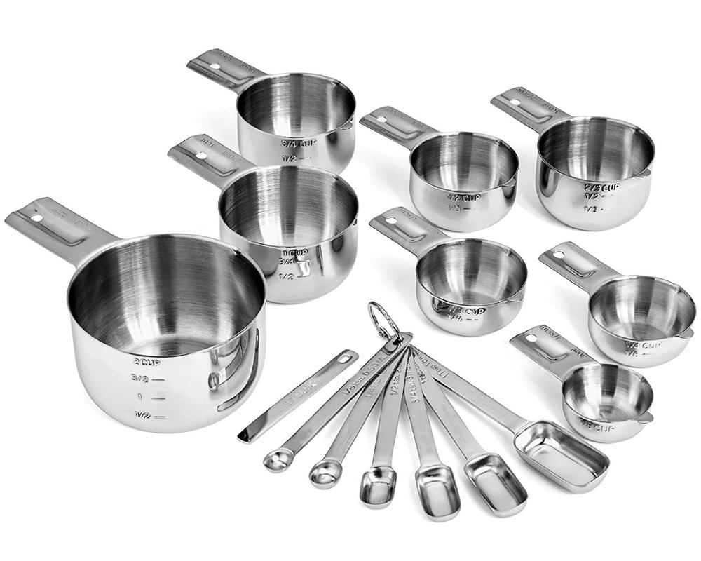 Hot sale 18/8 stainless steel <strong>measuring</strong> <strong>spoons</strong> <strong>measuring</strong> cup set