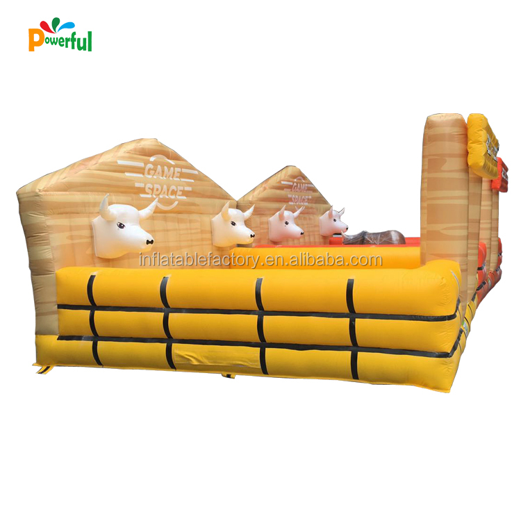 Hot selling inflatable rodeo bull game mechanical bull rider for sales