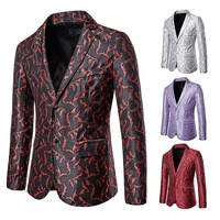 New fashion casual 4 color embroidered suit jacket for men