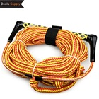 Water Sports Rope Water Ski Hot Sale Water Ski Rope Customized Multi Colored EVA Handle Water Sports Surf Rope