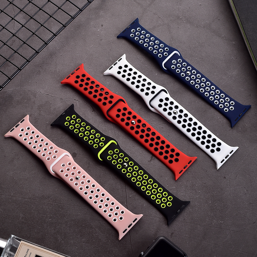 Watch band 5 For apple (iwatch 4) 44mm 40mm applewatch 3 2 1 strap 42mm 38mm Wrist sports for apple watch band rubber